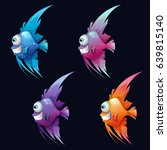 a set of colored cheerful fish... | Shutterstock .eps vector #639815140