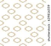 vector gold seamless pattern...   Shutterstock .eps vector #639816559