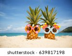 couple of funny attractive... | Shutterstock . vector #639817198