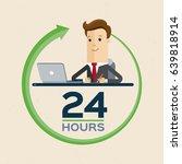 customer service 24 hours.... | Shutterstock .eps vector #639818914