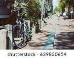 vintage bicycle in amsterdam ... | Shutterstock . vector #639820654