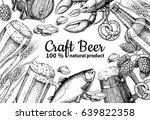 beer vector frame banner.... | Shutterstock .eps vector #639822358