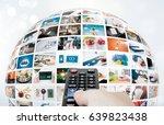 television broadcast multimedia ... | Shutterstock . vector #639823438
