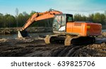excavator produces river sand... | Shutterstock . vector #639825706