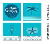 beautiful summer poster with... | Shutterstock .eps vector #639831313