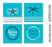 beautiful summer poster with... | Shutterstock .eps vector #639831340