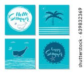 beautiful summer poster with... | Shutterstock .eps vector #639832369