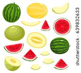 bright vector set of colorful... | Shutterstock .eps vector #639832633