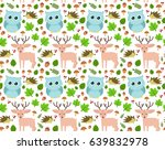 sweet seamless forest pattern... | Shutterstock .eps vector #639832978