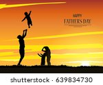 happy father' s day flyer ... | Shutterstock .eps vector #639834730