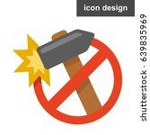 vector icon sticker stop damage ...