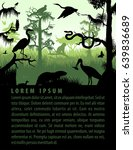 vector rainforest wetland... | Shutterstock .eps vector #639836689
