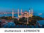 sultanahmet mosque at night    Shutterstock . vector #639840478