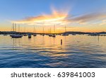 Sunrise  Waterscape With Boats...