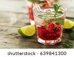 tasty cold fresh drink lemonade ... | Shutterstock . vector #639841300