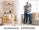 young couple moving to a new... | Shutterstock . vector #639842686
