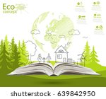 environmentally friendly world. ... | Shutterstock .eps vector #639842950