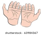 two man hands palms up | Shutterstock . vector #63984367