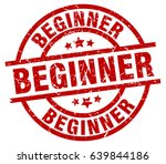 beginner round red grunge stamp | Shutterstock .eps vector #639844186