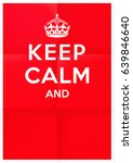 """keep calm"" blank british war..."