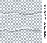 vector modern ripped torn paper ... | Shutterstock .eps vector #639851548