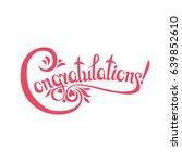 congratulations sign.hand drawn ... | Shutterstock .eps vector #639852610