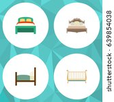 flat mattress set of furniture  ... | Shutterstock .eps vector #639854038