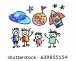 kids drawing children education ...   Shutterstock . vector #639855154