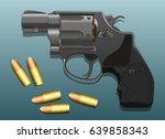 revolver pistol gun and bullet... | Shutterstock .eps vector #639858343