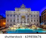 Night View Of Rome Trevi...