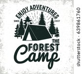 vintage camping or tourism logo ... | Shutterstock .eps vector #639861760
