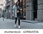 fashion is her life. full... | Shutterstock . vector #639864556