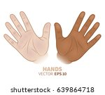 black and white hands together. ... | Shutterstock .eps vector #639864718