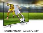 4k monitor watching smart tv... | Shutterstock . vector #639877639
