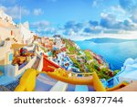 spectacular scenery of oia... | Shutterstock . vector #639877744
