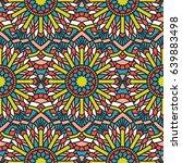 seamless oriental pattern.... | Shutterstock . vector #639883498