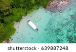 aerial view over group of long... | Shutterstock . vector #639887248