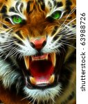 Angry Tiger A Fractal Filtered...