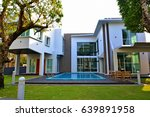 modern home exterior with ... | Shutterstock . vector #639891958