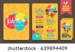 cute colorful kids meal menu... | Shutterstock .eps vector #639894409