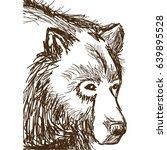 animal wild bear  face hand... | Shutterstock .eps vector #639895528