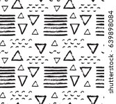 abstract pattern of black brush ... | Shutterstock .eps vector #639898084
