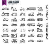 simple set of transport line...   Shutterstock .eps vector #639898498