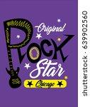 chicago original rock star t... | Shutterstock .eps vector #639902560