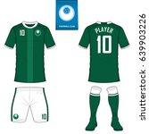 set of soccer kit or football... | Shutterstock .eps vector #639903226
