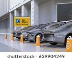 fleet of autonomous vehicles in ... | Shutterstock . vector #639904249