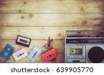 top view hero header   retro... | Shutterstock . vector #639905770