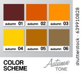 color chart for autumn   vector ... | Shutterstock .eps vector #639910828