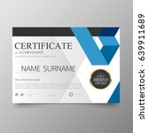 certificate premium template... | Shutterstock .eps vector #639911689