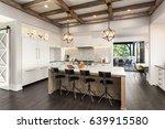 kitchen interior with island ... | Shutterstock . vector #639915580
